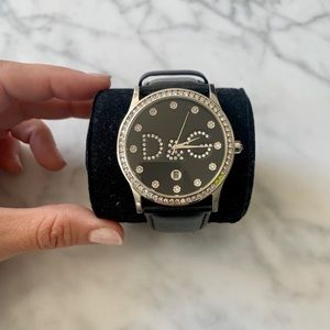 D&G Dolce and Gabbana Black Gloria Watch